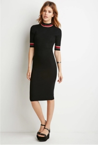Forever 21 Striped-Trim Ribbed Dress ($25)