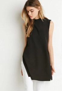 Forever 21 Mock Neck Side Slit Top ($23)