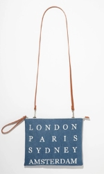 Forever 21 Cities Denim Convertible Clutch ($15)