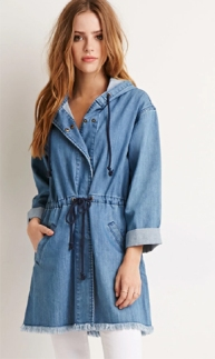 Forever 21 Frayed Denim Utility Jacket ($40)