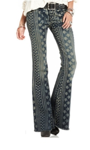 Free People Striped Floral-Print Flared Jeans ($100)