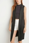 Forever 21 Side-Slit Satin Vest ($33)