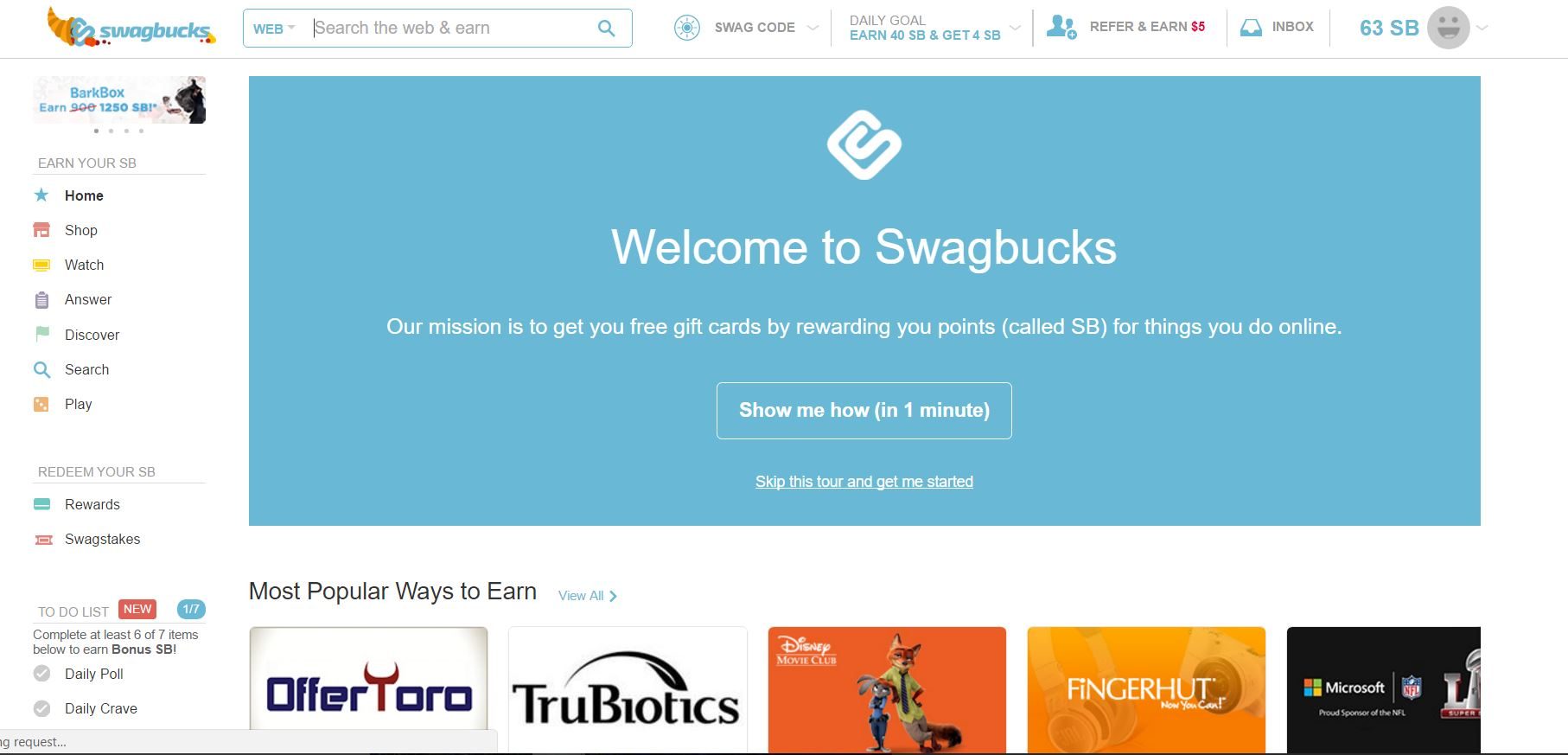 Another wonderful way to get paid is Swagbucks. Swagbucks is a popular rewards  program that gives you free gift cards and cash for the everyday things you  ...