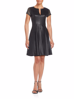BCBGMAXAZRIA Karlie Perforated Fit-And-Flare Dress ($129.99)